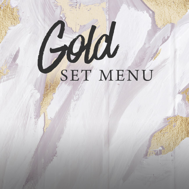 Gold set menu at The Golden Heart