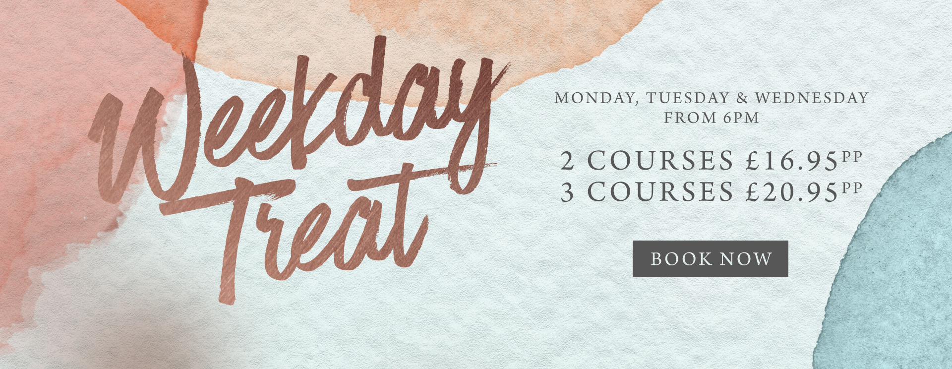 Weekday treat at The Golden Heart - Book now