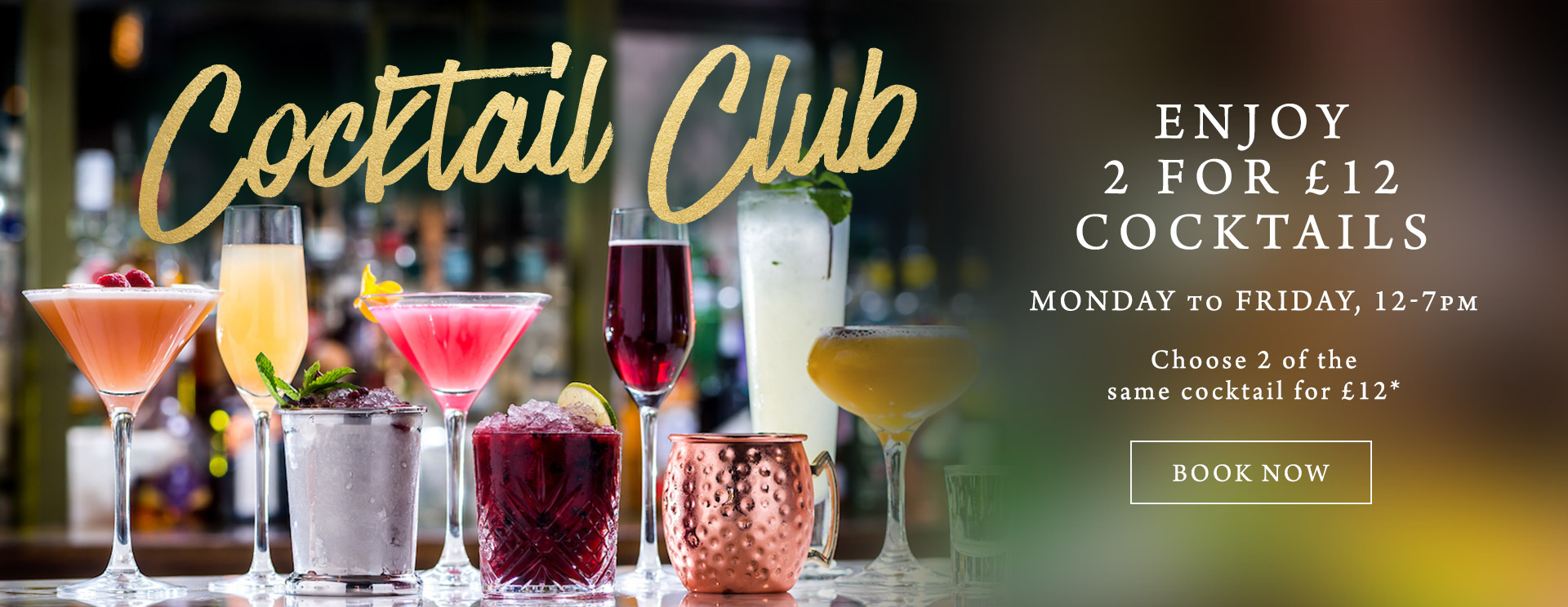 2 for £12 cocktails at The Golden Heart